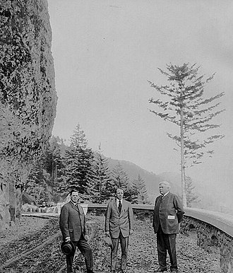 Henry S. Graves - Henry S. Graves, C. C. Colt and Samuel Hill on the Columbia Ridge Highway, circa 1910