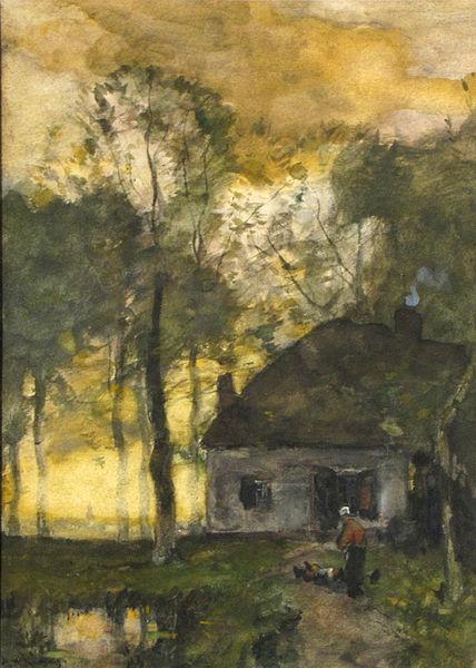 File:Henry Ward Ranger - Farm scene at dawn (1894).jpg