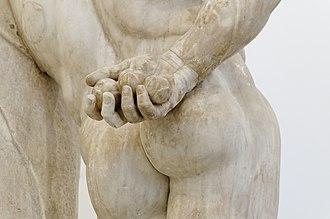 Farnese Hercules - Image: Herakles Farnese MAN Napoli Inv 6001 n 06