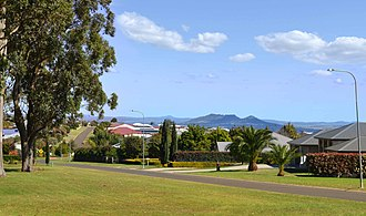 Highfields, Queensland - View over Highfields from Mitchell Road Park, looking west towards Gowrie Mountain.