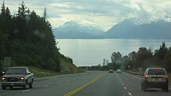 Highway, bay, and mountains, Alaska.jpg
