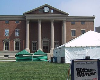 Back to the Future - Courthouse Square as it appeared in Back to the Future on Universal Studios backlot