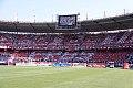 Hinchada de Atlético Junior en la tribuna sur del estadio metropolitano 2015-03-23.jpg