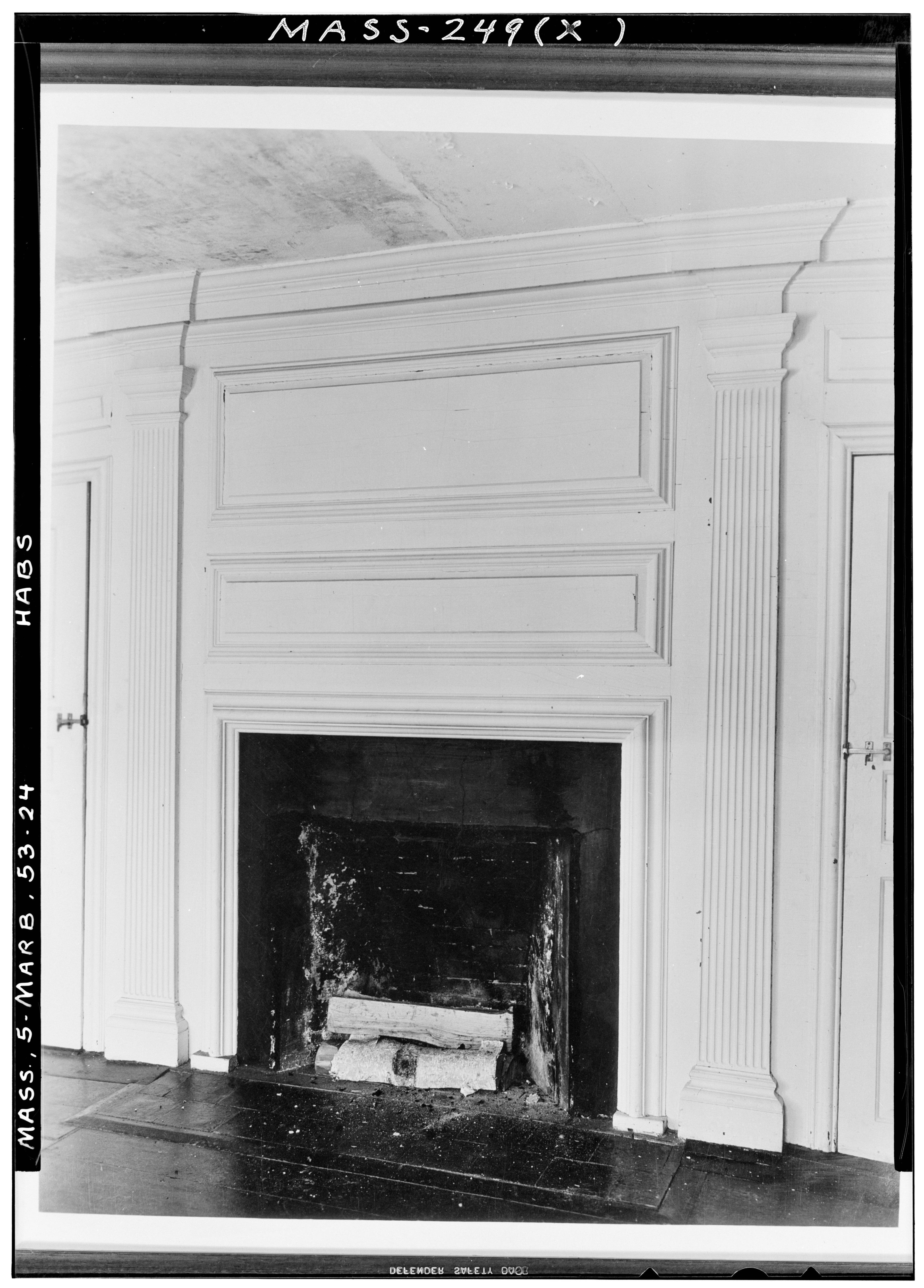 File historic american buildings survey arthur c haskell for Fireplaces southwest
