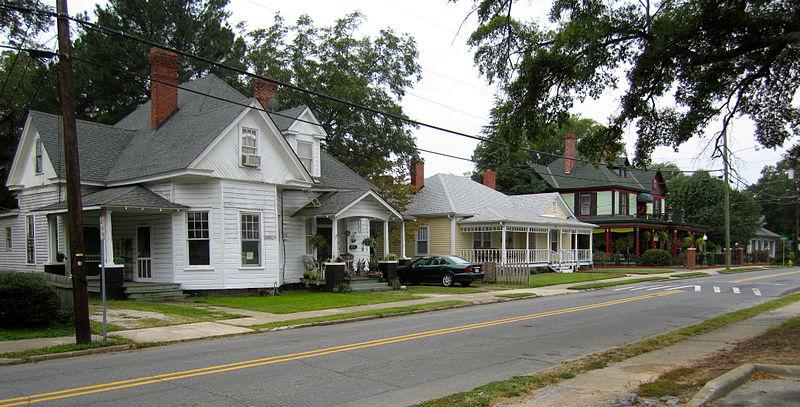 File:Historic homes lining E Houston Street.JPG