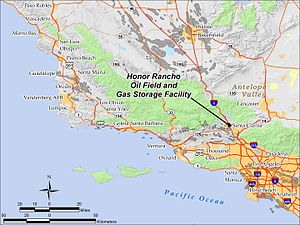 Honor Rancho Oil Field - Location of Honor Rancho Oil Field and Gas Storage Facility in southern California