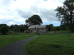 Hopton Castle, Shropshire - St Edward's church at Hopton Castle