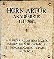 Horn Artúr emléktáblája Kossuth Lajos tér 11.JPG