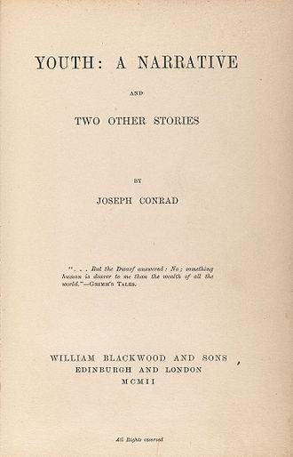 Youth (Conrad short story) - Title page for Youth: A Narrative, and Two Other Stories, 1902
