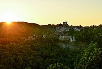 Čabraď Castle - Čabraď Castle at sunset.