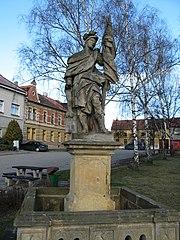 Sochy svatého Jana Nepomuckého a svatého Floriána