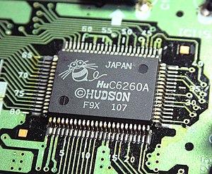 Microprocessor - A Japanese manufactured HuC6260A microprocessor