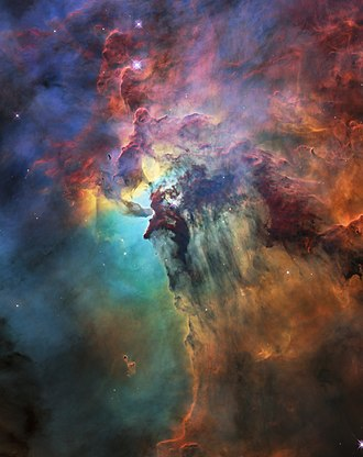 Lagoon Nebula - Image: Hubble's 28th birthday picture The Lagoon Nebula