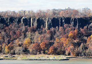 The Palisades (Hudson River) Steep cliffs along the west side of the lower Hudson River