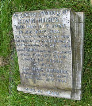 Edwin Hughes (soldier) - Edwin Hughes' grave