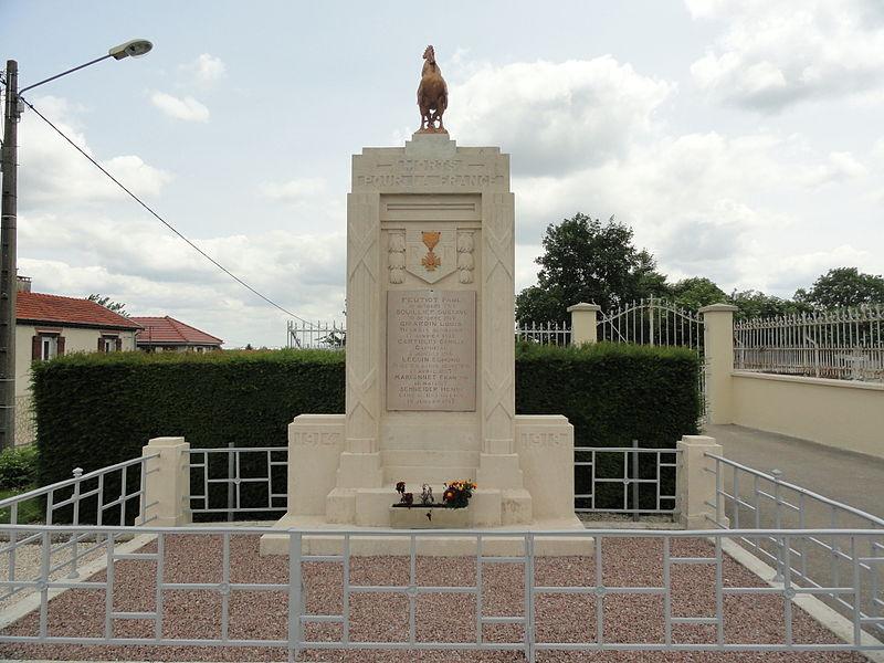 Le monument aux morts de Huiron (51).