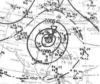 1932 Cuba hurricane - Image: Hurricane Fourteen Analysis 8 Nov 1932