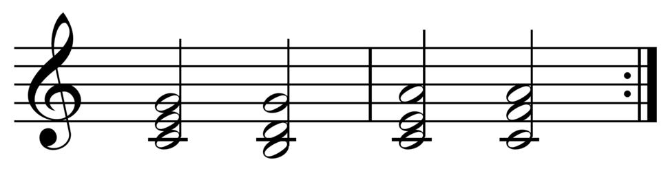 I-V-vi-IV chord progression in C