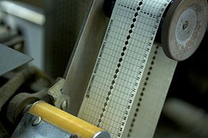 Carriage control tape - Image: IBM1403controltape