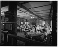INTERIOR, EAST DINING ROOM - Roosevelt Lodge, Lodge Building, Tower Junction, Park County, WY HABS WYO,15-TOWJU,1A-6.tif
