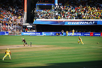 Chennai Super Kings - Chennai Super Kings playing the Kolkata Knight Riders at the M. A. Chidambaram Stadium in the 2008 Indian Premier League.