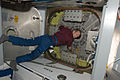ISS-21 Frank De Winne HTV-1 unberth preparation.jpg