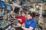 ISS-57 Serena Auñón-Chancellor and Anne McClain train in the Destiny lab.jpg