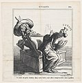 I beg you, get back into your box. You are going to endanger my equilibrium, from 'News of the day,' published in Le Charivari, January 13, 1869 MET DP877771.jpg