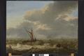 I förgrunden en liten holländsk segelbåt och en roddbåt på ett upprört hav, från 1600-talet - Skoklosters slott - 98160.tif