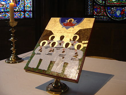 Icon of the Melanesian Brotherhood Martyrs at Canterbury Cathedral (Anglican Communion) Icon Cathedral 3.jpg