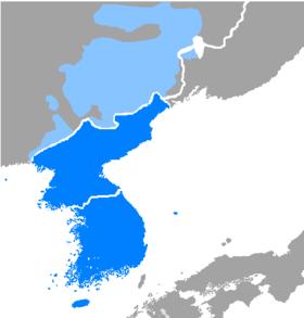 Distribution du coréen.