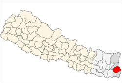 Ilam District Wikipedia - Ilam map