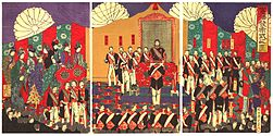 Illustration of the Ceremony Issuing the Constitution (Chikanobu).jpg