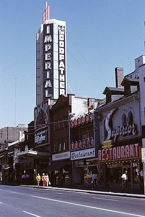 Ed Mirvish Theatre - The Imperial, during the 1972 run of The Godfather, prior to the cinema's conversion to a multiplex
