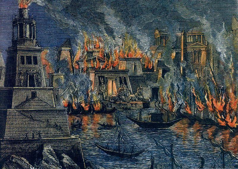 File:Incendio Biblioteca Alejandría.jpg