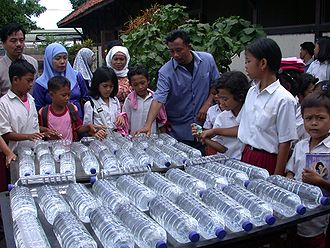 Drinking water -  Solar water disinfection application in Indonesia