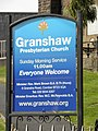 Information board at Granshaw Presbyterian Church - geograph.org.uk - 1519422.jpg