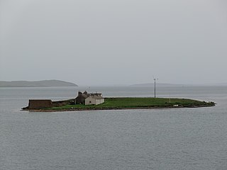 Inner Holm A small inhabited tidal island in Stromness harbour and one of the Orkney islands of Scotland