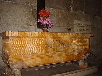 José María Caro Rodríguez - José María Caro's Grave in Santiago Cathedral