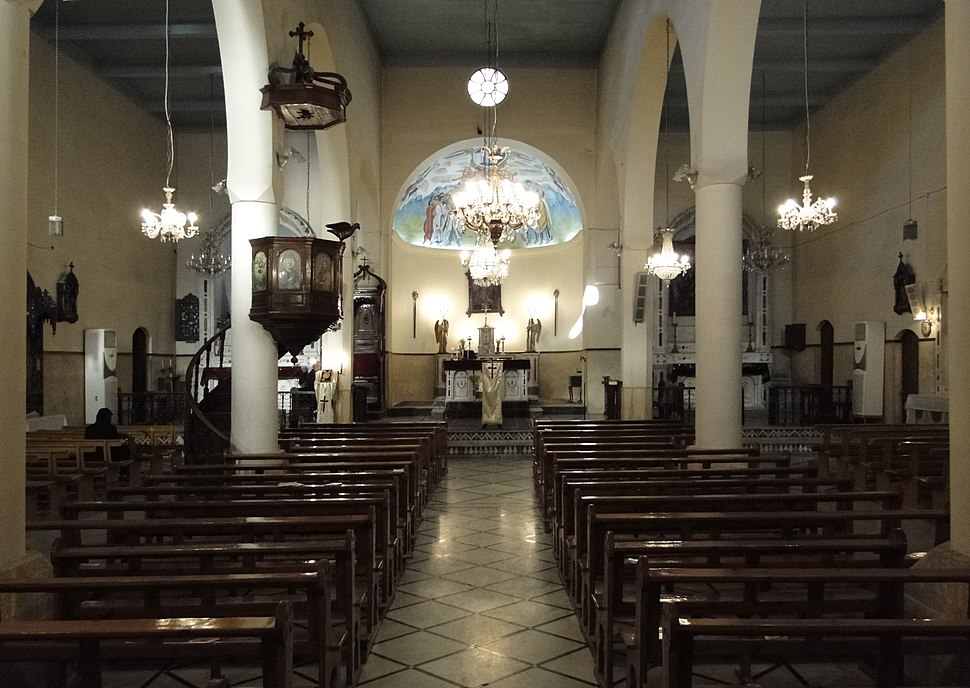 Interiors of the Syriac Catholic Cathedral, Damascus