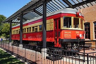 Texas Electric Railway - Restored rail car at the Interurban Railway Museum