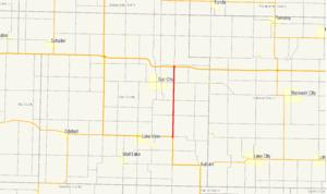 Iowa Highway 196 - Image: Iowa 196 map