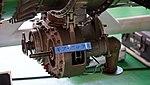 Ishikawajima-Harima F100-IHI-220E turbofan engine(cutaway model) gear box at JASDF Hamamatsu Air Base September 28, 2014.jpg