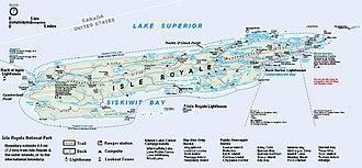 Isle Royale - Map of Isle Royale