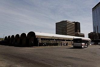 Islington–City Centre West - Bus platforms at Islington station, a subway station for the Toronto subway.
