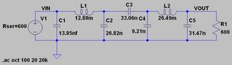 ITU-R 468 noise weighting - Image: Itu r 468 circuit