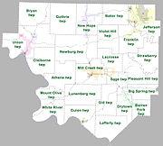 Izard County Arkansas 2010 Township Map large