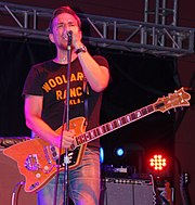 JD McPherson in performance, 2016