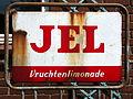 JEL Vruchtenlimonade emaile reclamebord op fietsenrek, foto1.JPG