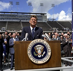Rice Stadium (Rice University) - President Kennedy speaks at Rice Stadium on the American space program in 1962